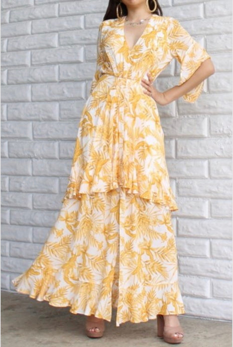 Beach Babe Maxi Dress (Mustard) PRE-ORDER Will Ship Aug 15th