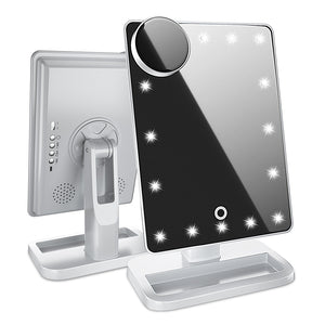 Lighted Makeup Mirror with Bluetooth