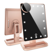 Load image into Gallery viewer, Lighted Makeup Mirror with Bluetooth