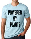 Think Out Loud Apparel Powered by plants Funny Vegetarian T shirt Vegan humor tee