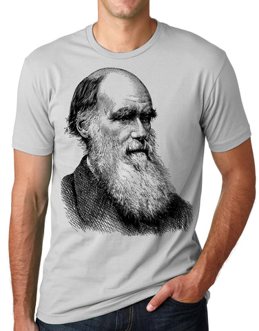 Think Out Loud Apparel Charles Darwin Portrait T-shirt Atheist Tee Evolution