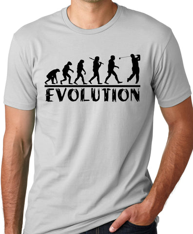 Think Out Loud Apparel Golf Evolution Funny T-shirt Golfer Humor Tee