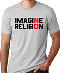Think Out Loud Apparel Imagine No Religion Atheist T-Shirt Free Thinker Tee