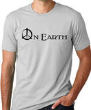 Think Out Loud Apparel Peace on Earth Anti War Tshirt Pacifist Tee