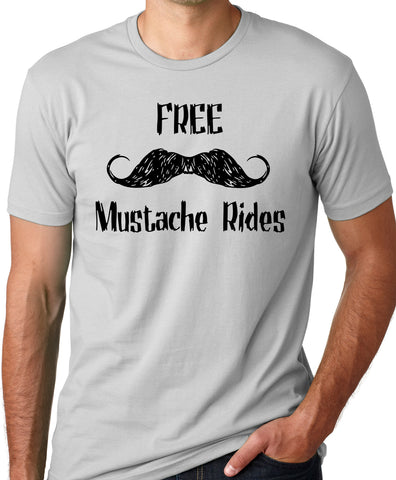 Think Out Loud Apparel Free Mustache Rides Funny T-Shirt