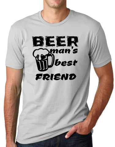 Think Out Loud Apparel Beer Man's Best Friend Funny Drinking T Sheet Bar Humor Tee