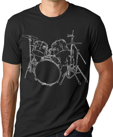 Think Out Loud Apparel Drums T-shirt Artistic design Drummer Musician Tee