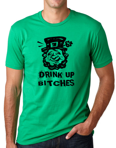 Think Out Loud Apparel Drink Up Bitches Funny St Patrick's Day T-Shirt