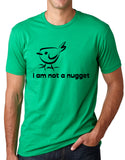 Think Out Loud Apparel I Am Not A Nugget Funny Vegetarian T-Shirt Vegan Humor Tee