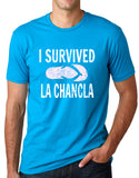 Think Out Loud Apparel I Survived La Chancla Funny T shirt Mexican Humor Tee
