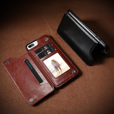 Etui en cuir de luxe pour Iphone (Multi-Usage)