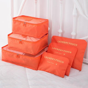 SacPack ™ - Pochettes de rangement (6pcs) Travel Bags Shop3622155 Store Orange