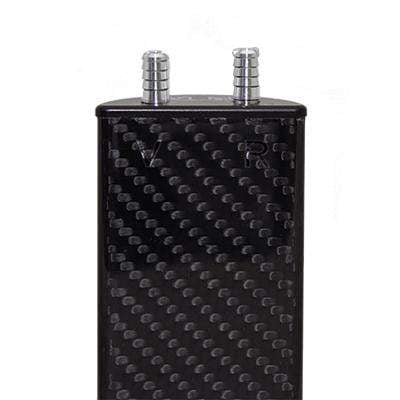 "Carbon Fiber Coolant Recovery Tank ""D"" Shaped"