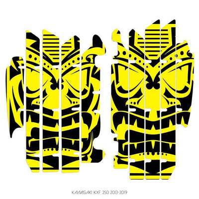 wmr1 Black & Yellow +$9.99 / 2013-2019 Kawasaki KXF 250 Radiator Louver Graphics 2013-2019