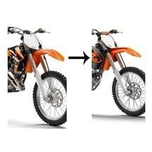 KTM Front Fender Kit XC Models 2009-2012