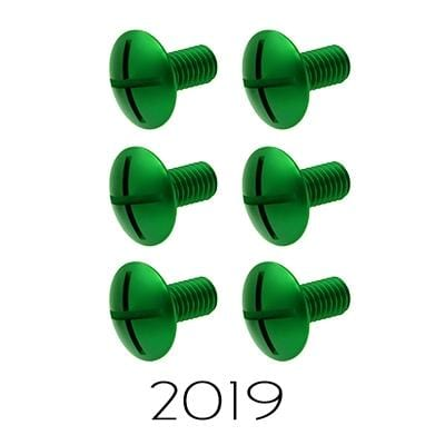 wmr1 2019 Kawasaki KXF 450 Kawasaki Factory Aluminum Fork Guard Bolts Green Check Fitment