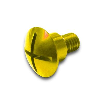 Suzuki Factory Aluminum Fork Guard Bolts Yellow 2010-2019