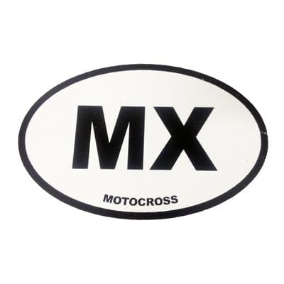 MX Oval Window Sticker