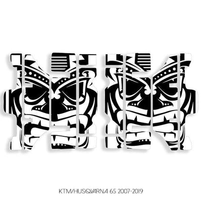 wmr1 Black & White +$0.00 / 2007-2019 KTM/Husqvarna 65 Radiator Louver Graphics 2007-2020