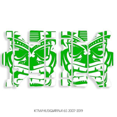 wmr1 White & Green +$9.99 / 2007-2019 KTM/Husqvarna 65 Radiator Louver Graphics 2007-2020