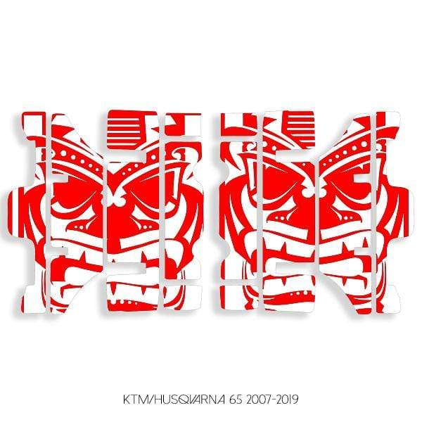 wmr1 White & Red +$9.99 / 2007-2019 KTM/Husqvarna 65 Radiator Louver Graphics 2007-2020