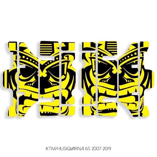 wmr1 Black & Yellow +$9.99 / 2007-2019 KTM/Husqvarna 65 Radiator Louver Graphics 2007-2020