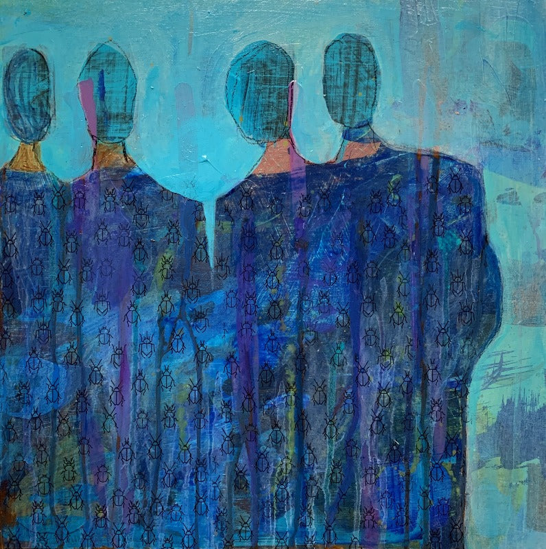 Heros-pandemic-response-original-painting-in blue-and-teal_by-carol-macconnell