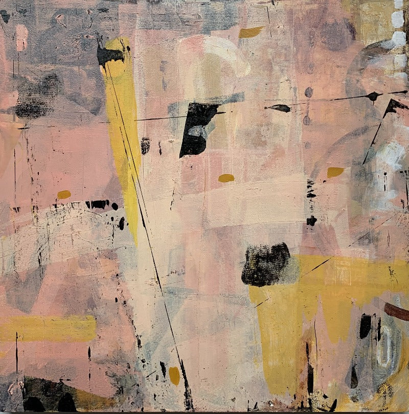 French-champagne-original-abstract-painting-pink-black-yellow_by-carol-macconnell