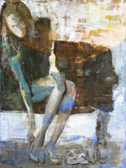 abstract figurative painting by carol macconnell