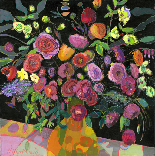 flower bouquet painting by Carol Macconnell
