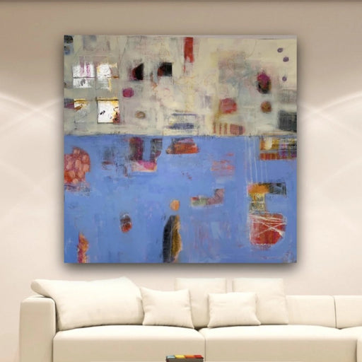 original-abstract-art-in-blue-and-cream_by-carol-macconnell-in-a-room-setting