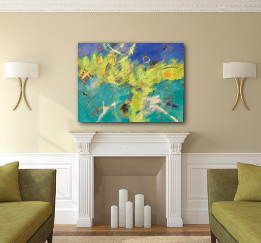 Rising-abstract-painting-in a room-setting_by-carol-macconnell