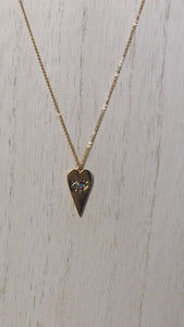 Evil Eye Heart Turquoise Necklace (Gold-Filled)