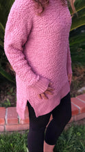 Load image into Gallery viewer, Popcorn Rose Pink Sweater Dress