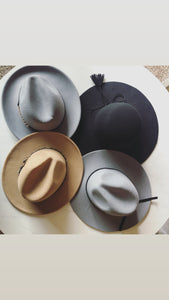Felt Hats - Grey, Brown, and Black