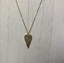 Load image into Gallery viewer, Evil Eye Heart Turquoise Necklace (Gold-Filled)