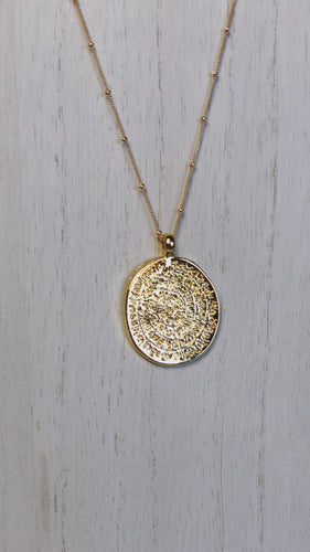 Aria Coin Pendant Bead Necklace