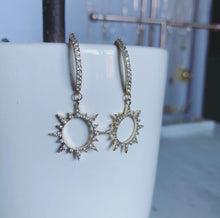 Load image into Gallery viewer, Sunburst CZ Earrings (Gold-Filled)