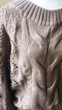 Load image into Gallery viewer, Mocha Latte Chunky Knit Sweater