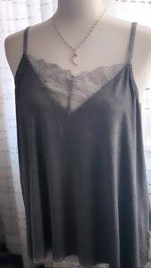 Lace Charcoal Camisole