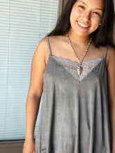 Load image into Gallery viewer, Lace Charcoal Camisole