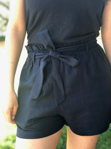 Navy Shorts with Bow