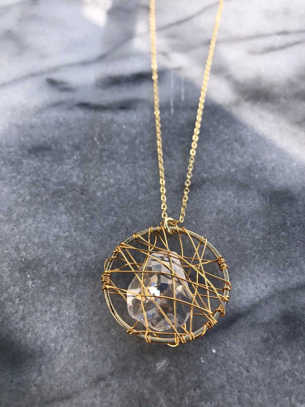 Wrapped Cage Necklace