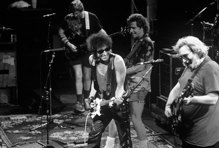 Bob Dylan and The Grateful Dead by Ebet Roberts