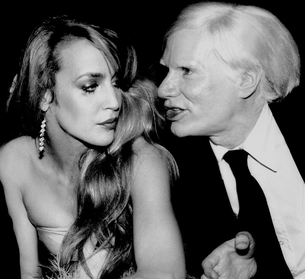Jerry Hall & Andy Warhol by Rose Hartman