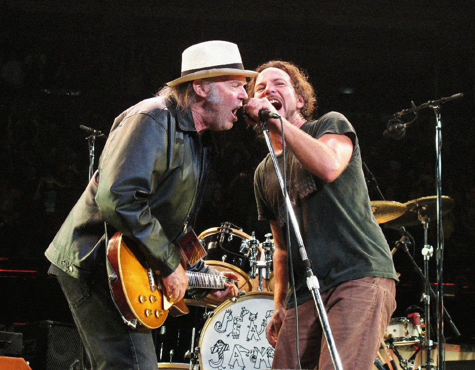 Pearl Jam & Neil Young by Lisa Mark