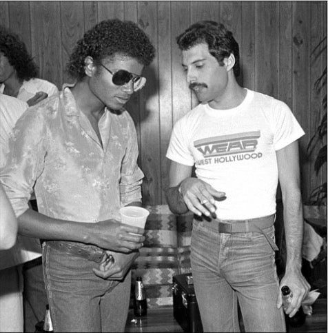 Michael Jackson & Freddie Mercury by Neal Preston