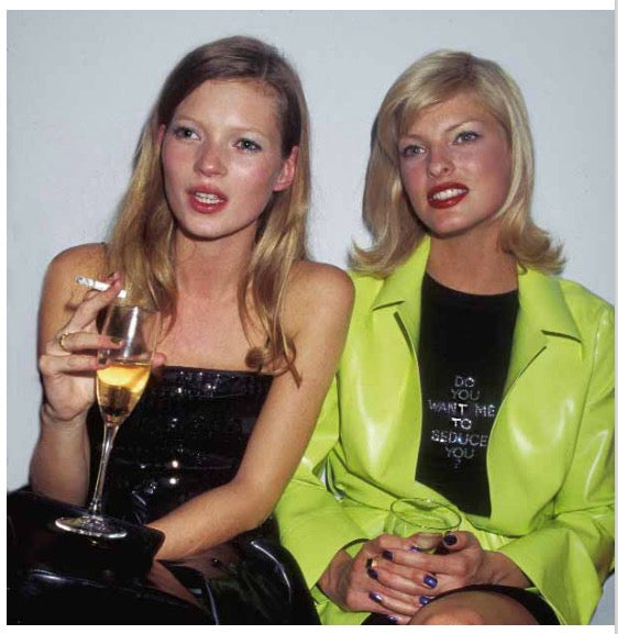 Kate Moss and Linda Evangelista by Rose Hartman
