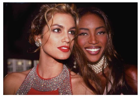 Cindy Crawford and Naomi Campbell by Rose Hartman