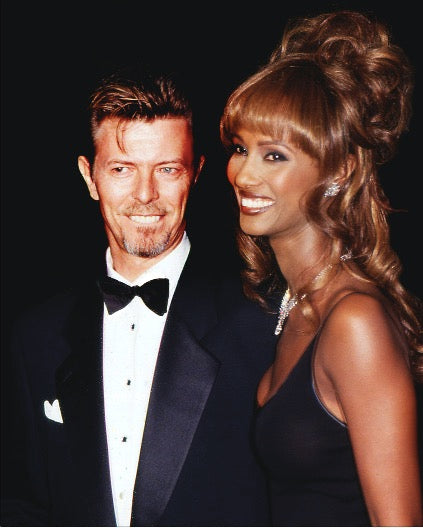 David Bowie and Iman by Rose Hartman